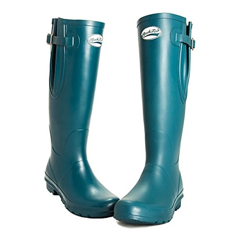 Rockfish Original Tall Adjustable Matte Wellington Boots (7, Dragon Fly)