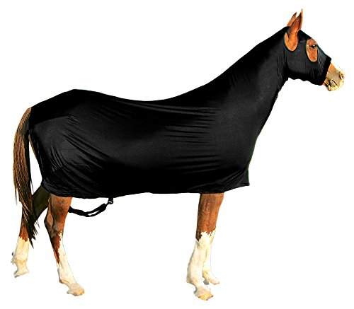 Derby Originals Lycra Full Body Horse Sheets with Neck Cover, Black, Large