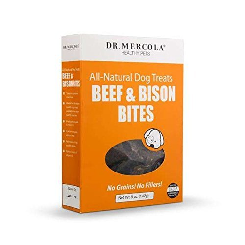 Dr Mercola Pet Beef and Bison Bites - Healthy Dog Treats - Great For Training - All Natural - Grain Free - Made In The USA - Premium Pet Food Product