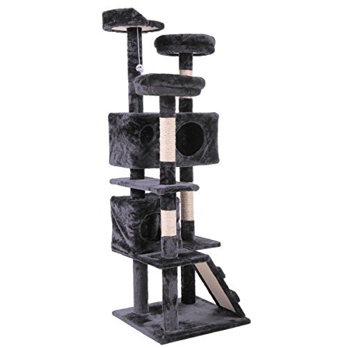 Sensational 60 Black Cat Activity Tree Tower Condo Furniture Scratching Post Pet Kitty Play House Download Free Architecture Designs Scobabritishbridgeorg