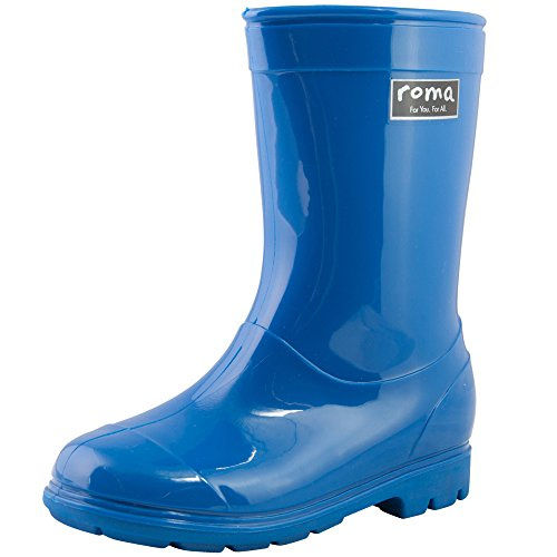 Roma Kids ABEL Classic Rain Boots (2 (Youth), Blue)