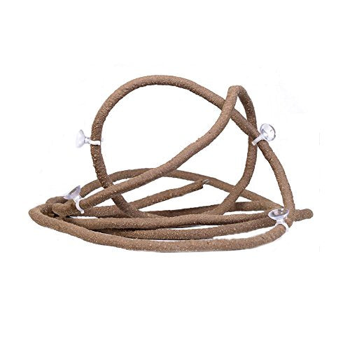 Jungle Vines Pet Habitat Decor with Sunction Cups Flexible Pet Habitat Decor for Lizards, Frogs Snakes and Other Reptiles