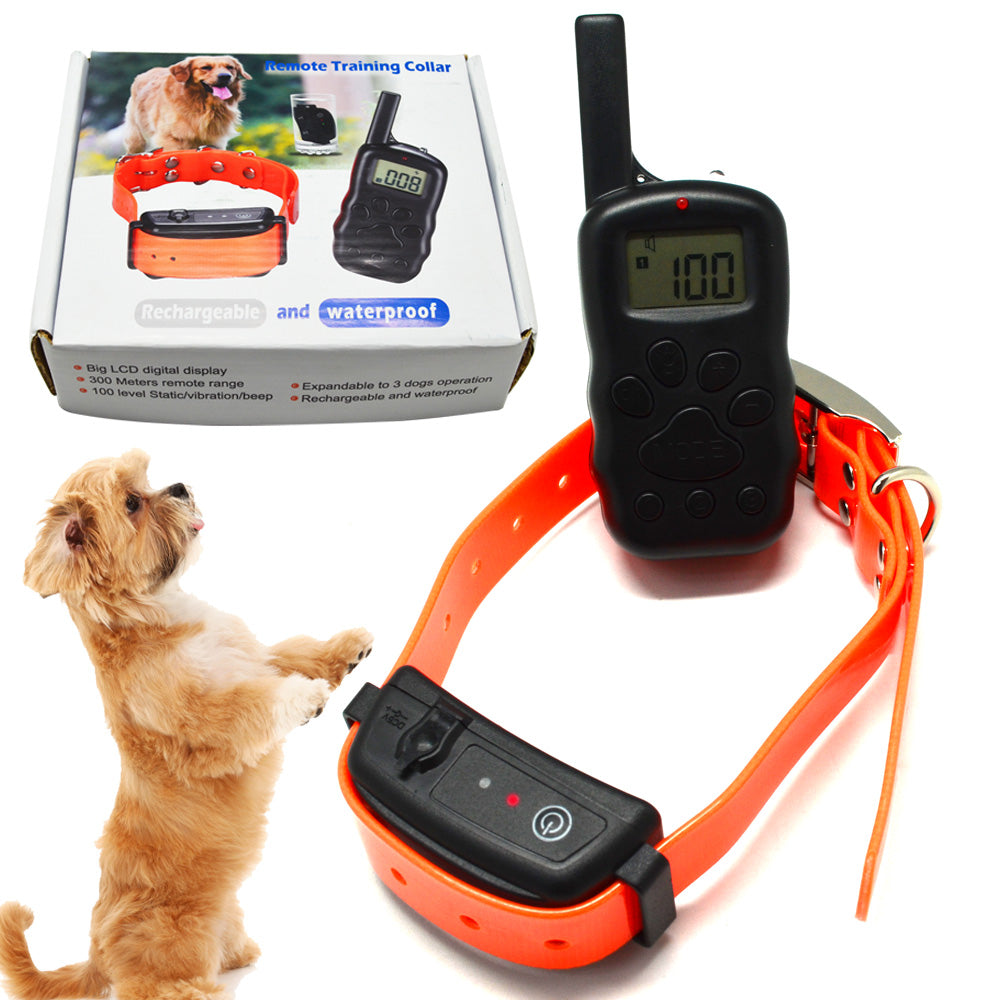 45pcs/lot 300M Remote Control Dog Training collar for 1 dog Rechargeable and Waterproof Collar ( can for 3 dogs )