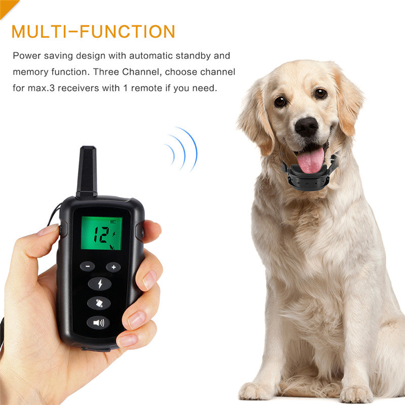 500M Remote Control Pet Dog Shock Training Collar With Vibrating&Shock&Warning Tone Mode Waterproof Electric Collar for 2 Dogs