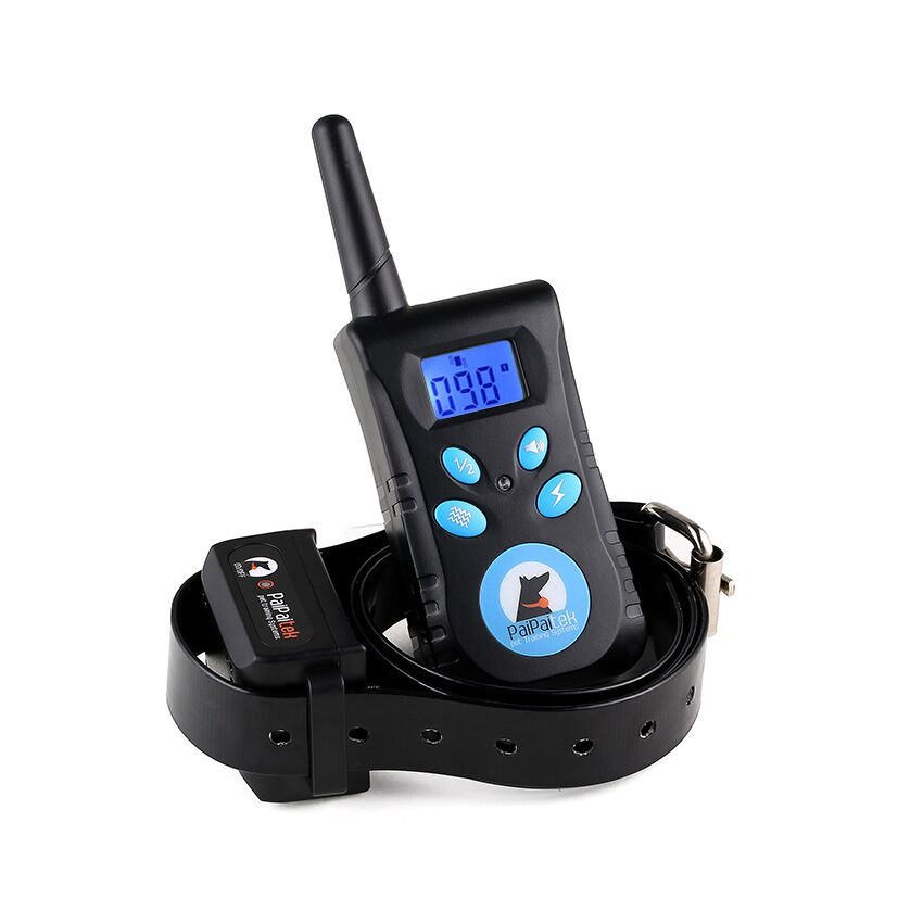 500M Remote Electric Shock Vibration Pet Dog Training Collar Rechargeable Diving Swimming Waterproof Dog Trainer With LCD