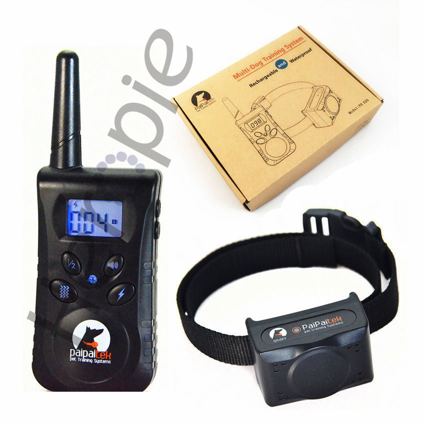 500M Remote Rechargeable Waterpoof Pet Dog Training Collar Pet Dog No Bark Collar Blue Screen Pet Bark Stop Collar For 1 Dog