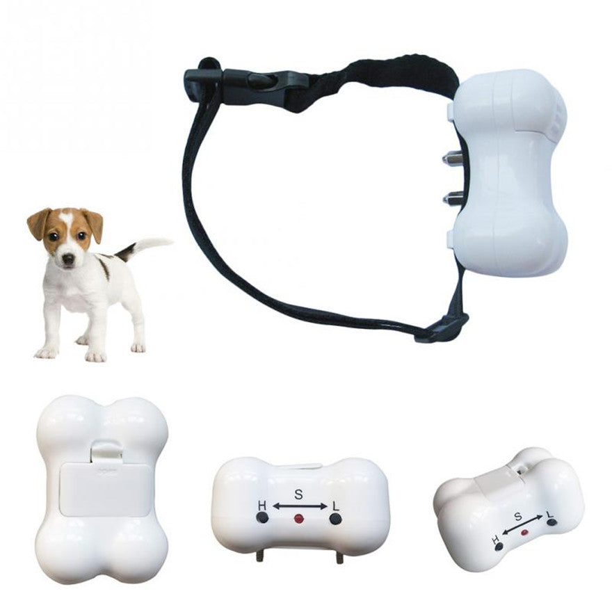 50set/lot * Bone Shaped Voice control ELECTRONIC AUTO Small/Medium Anti No Bark Dog Training Shock Collar bark stop collar