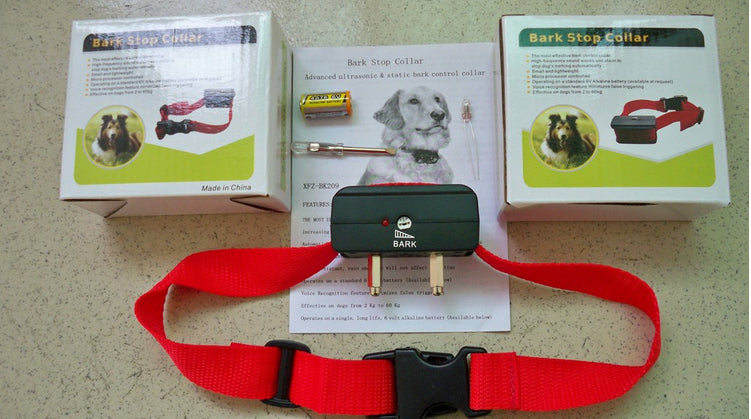 50set/lot * Voice control ELECTRONIC AUTO Small/Medium Anti No Bark Dog Training Shock Collar bark stop collar