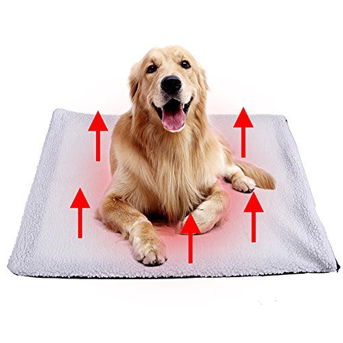 Foerteng Self Heating Pet Bed Mat Pet Heating Pad Pet Bed Warmer for Pets Cats and Dogs, White