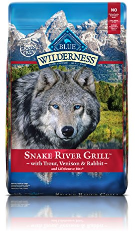 BLUE Wilderness Grain Free Snake River Grill with Trout, Venison & Rabbit Dry Dog Food 22-lb
