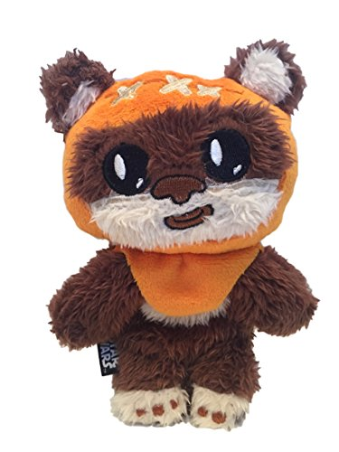 Star Wars Dog Toy - Ewok Squeaky Crinkle Squeaker Puppy Plush Chew Toy, 6