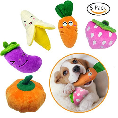 H7MAO Squeaky Dog Toys Package for Pet Dogs Cats, Best Durable Chew Toys for Pets. (5 Pack)