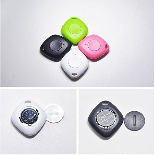 Pet Tracker Wireless Bluetooth Smart Key Finder Anti Lost Reminder Alarm  Locator Tag (Color white)