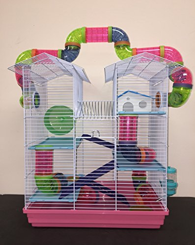 New Large Twin Towner Habitat Hamster Rodent Gerbil Mouse