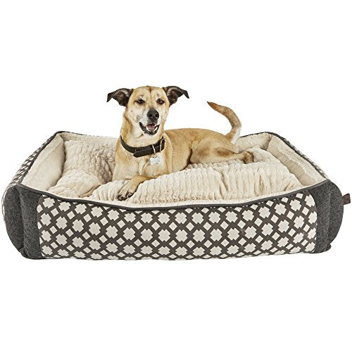 "Harmony Grey Nester Orthopedic Dog Bed, 40"" L x 30"" W, Large, Gray / White"