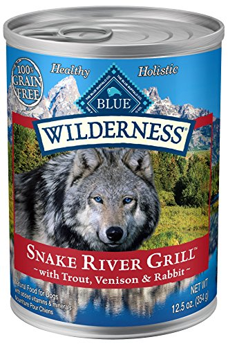 BLUE Wilderness Grain Free Snake River Grill with Trout, Venison & Rabbit Wet Dog Food 12.5-oz (pack of 12)