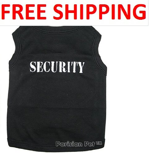 """ SECURITY "" - Pet Dog Shirt Embroidered - All Sizes (Medium)"