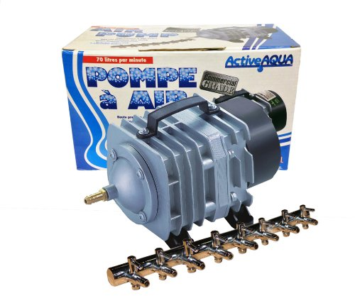 2 HYDROFARM AAPA70L Commercial Hydroponics Aquarium Pond Pumps 8 Outlet 70 LPM