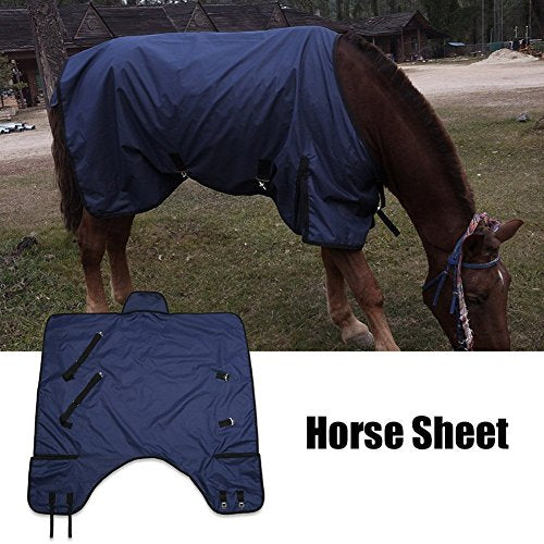 Zerone Horse Blanket,600D 210T Waterproof Lightweight Horse Turnout Blanket Sheet Rug Riding Accessory S/M/L/XL Size (135cm-M)