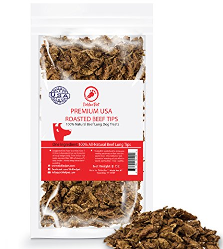 TickledPet Grain Free Natural Slow Roasted Beef Crisp Bite Sized Dog Training Treats, 8 oz