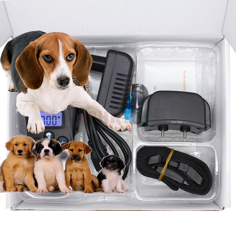 52pcs/lot Rechargeable And Waterproof LCD 100LV Shock + Vibra 300M Remote Control Dog Training Collar Pet Products For 2 Dogs