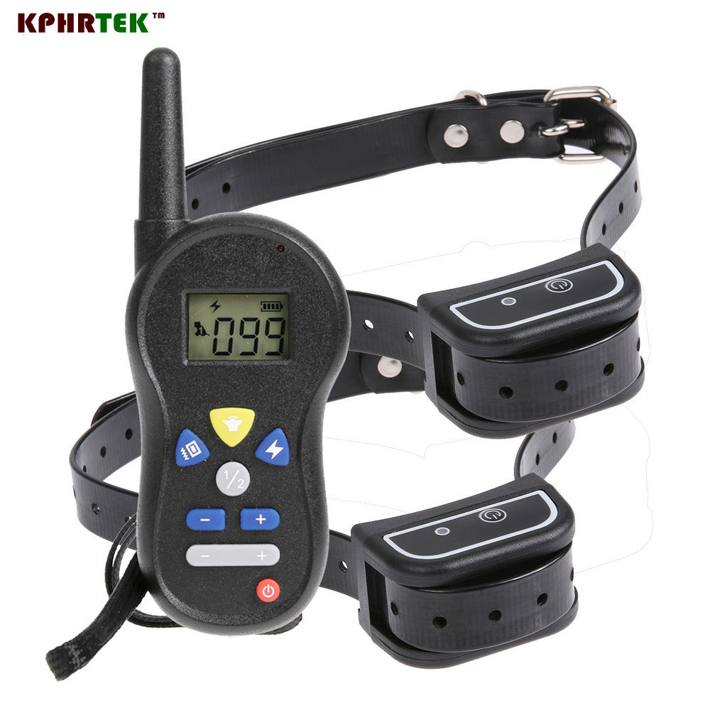 5pcs/lot Rechargeable 500 Meters Remote Electronic Shock Collar for Dog Waterproof Pet Dog Training Collar With LCD Display