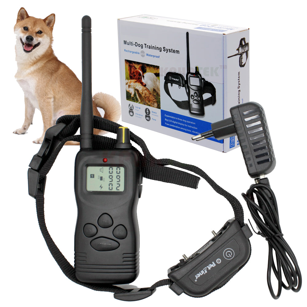 60pcs/lot PET 900B Multi-Dog Training System with Rechargeable and Waterproof Receiver Collar with retail package 1000m Remote