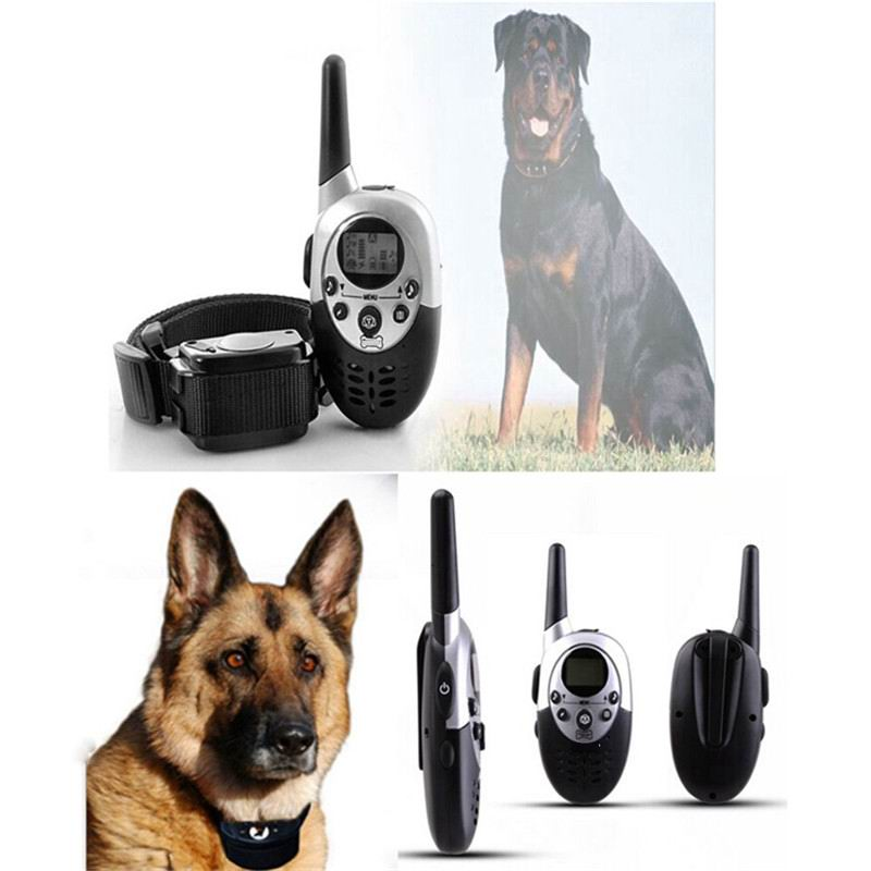 60set/lot* Dog Trainer 1000M Waterproof Rechargeable LCD Remote Pet Dog Training Collar Electric Shock Large Dog Control E613