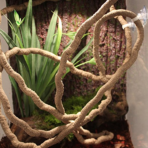 EONMIR Reptile Vine,Jungle Vine Pet Habitat Decor for Chameleon, Lizards, Gecko, Snakes and Other Arboreal Reptiles (Long Vines)