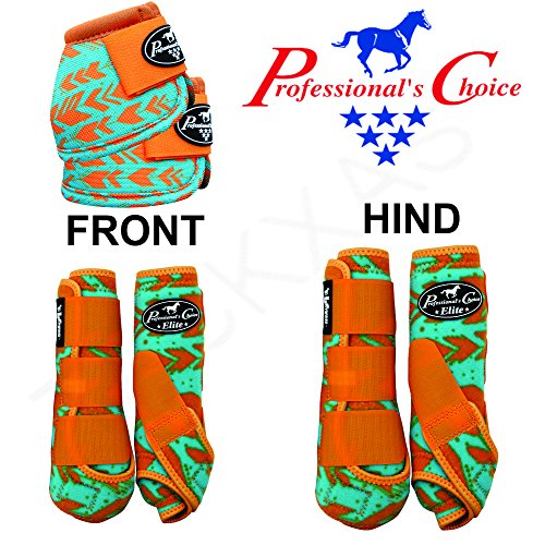 Professional Choice LRG COMFORT HORSE SPORTS FRONT HIND BELL BOOTS 6 PACK ARROW