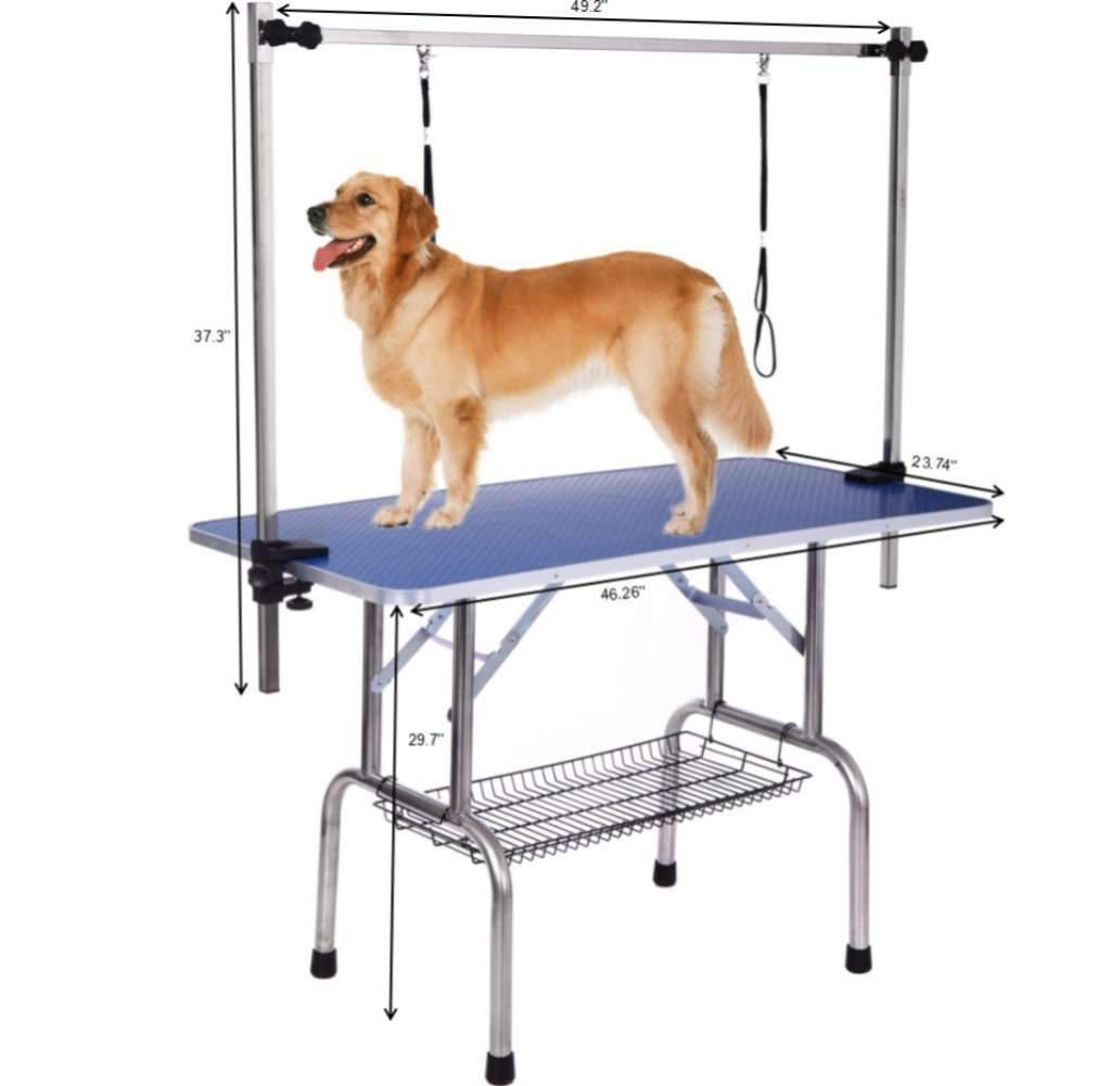Dog Grooming Table, Adjustable Clamp Overhead Pet Grooming Arm with Double Grooming Loop 36''/46'',,KeeboVet Veterinary Ultrasound Equipment,KeeboVet Veterinary Ultrasound Equipment.