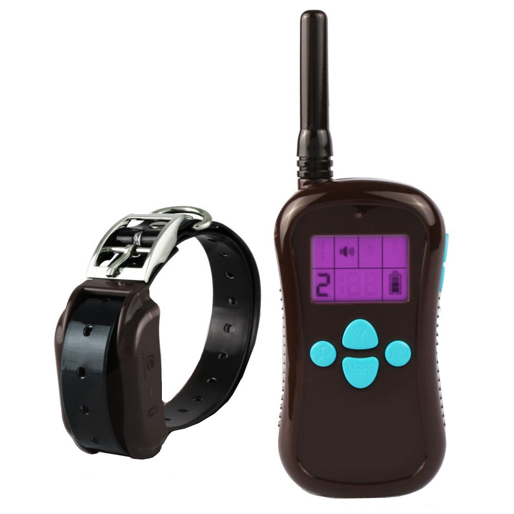 660 Yards Remote Pet Training Collar with 100 Level Intensity Adjustable Vibration and Static Shock Dog Training Collar