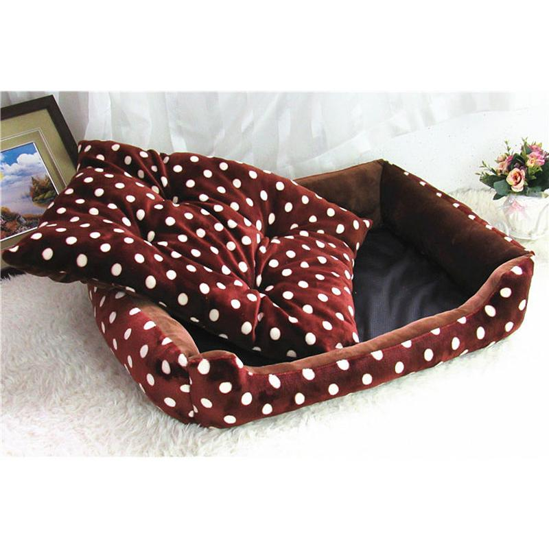 70*55cm Large dog bed sofa warm dot Small dog Kennel Pet Cats Nest mat two size avaliable puppy house animal Supplies ZL155-5