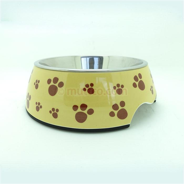 72pcs/lot S size high quality detachable antiskid dog safety Stainless steel dog footprint dog bowl