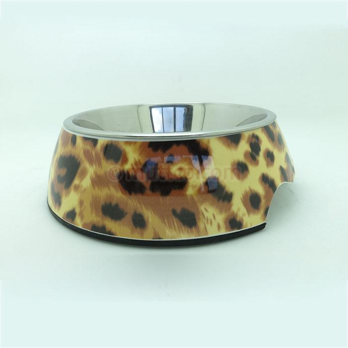 72pcs/lot S size high quality detachable dual antiskid Melamine&Stainless Steel dog pet bowl