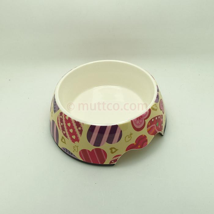 72pcs/lot S size pet food detachable dual antiskid Melamine heart love dog bowl DB-018