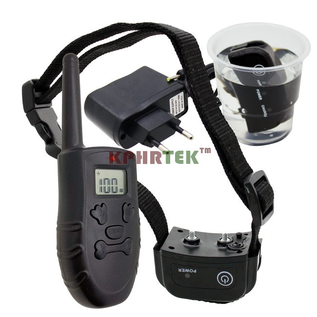 75pcs/lot Rechargeable IP67 Dog Diving Swiming Waterproof Dog Electronic Training Collar With LCD Display KPHRTEK H183DR