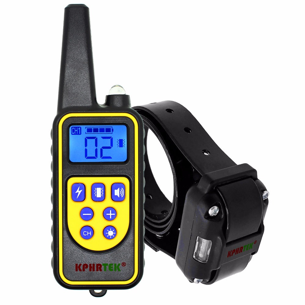 800M remote control pet dog training collar electric shock collar for dogs IP7 diving waterproof  Rechargeable LCD Display