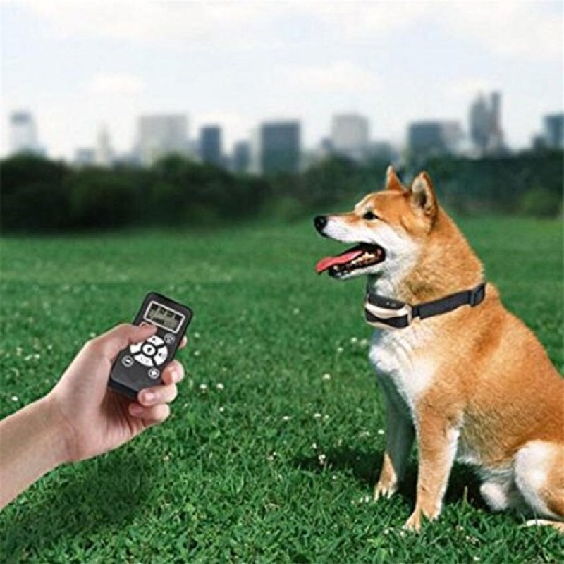 800Yards Remote Controlled Dog Training Collar Manual Automatic Waterproof Anti Bark Shock Collar With 7 Adjustable Shock Level