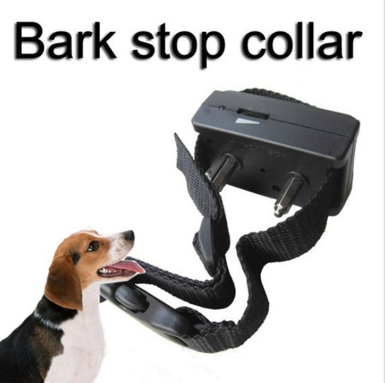 80pcs/lot Dog Anti Bark Gentle Shock Training Collar Stop Barking Terminator collar