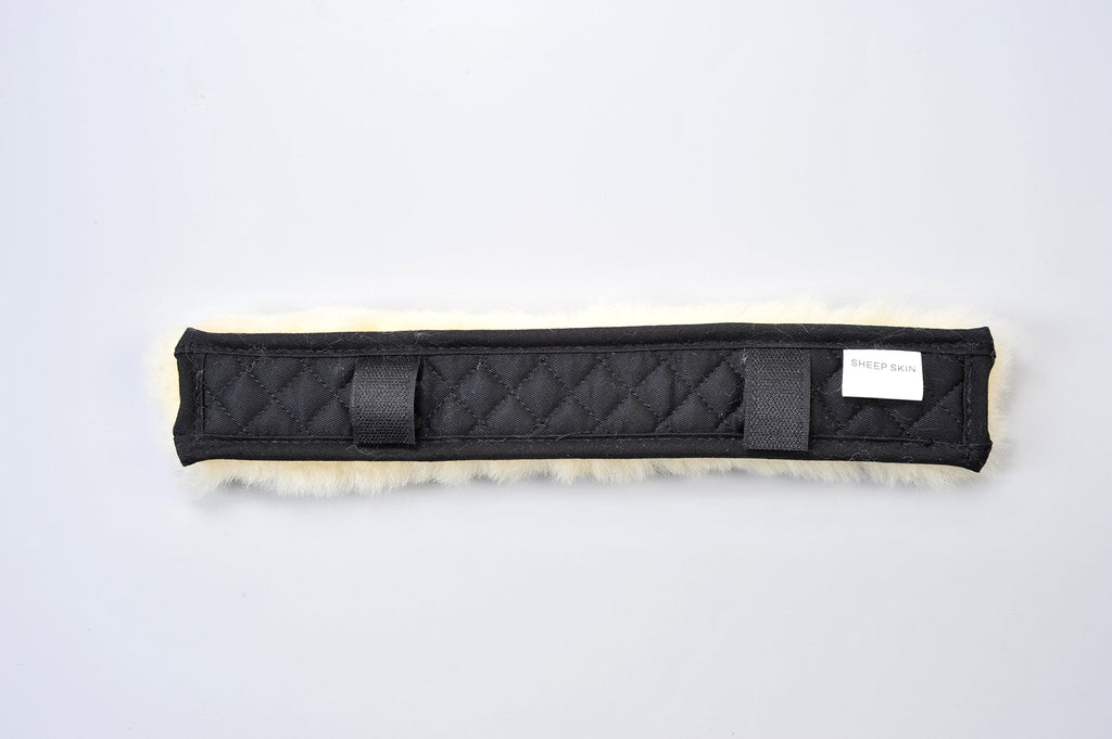Merauno Sheepskin Noseband Cover Neck Saver Sheepskin Tube for Headcollar Quilted with Saddle Cloth Genuine Sheepskin