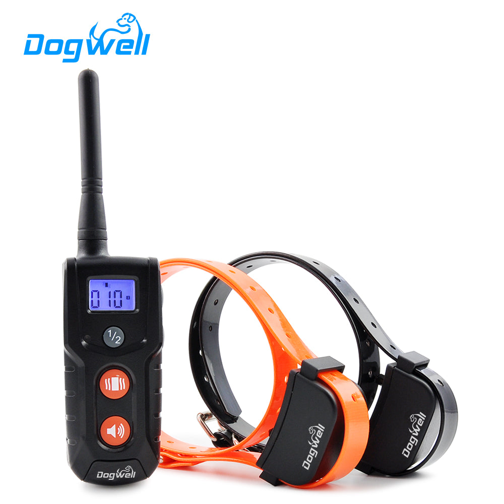 916N-2 Newest Rechargeable and Waterproof Dog Training Collar with LCD display For 2 Dogs