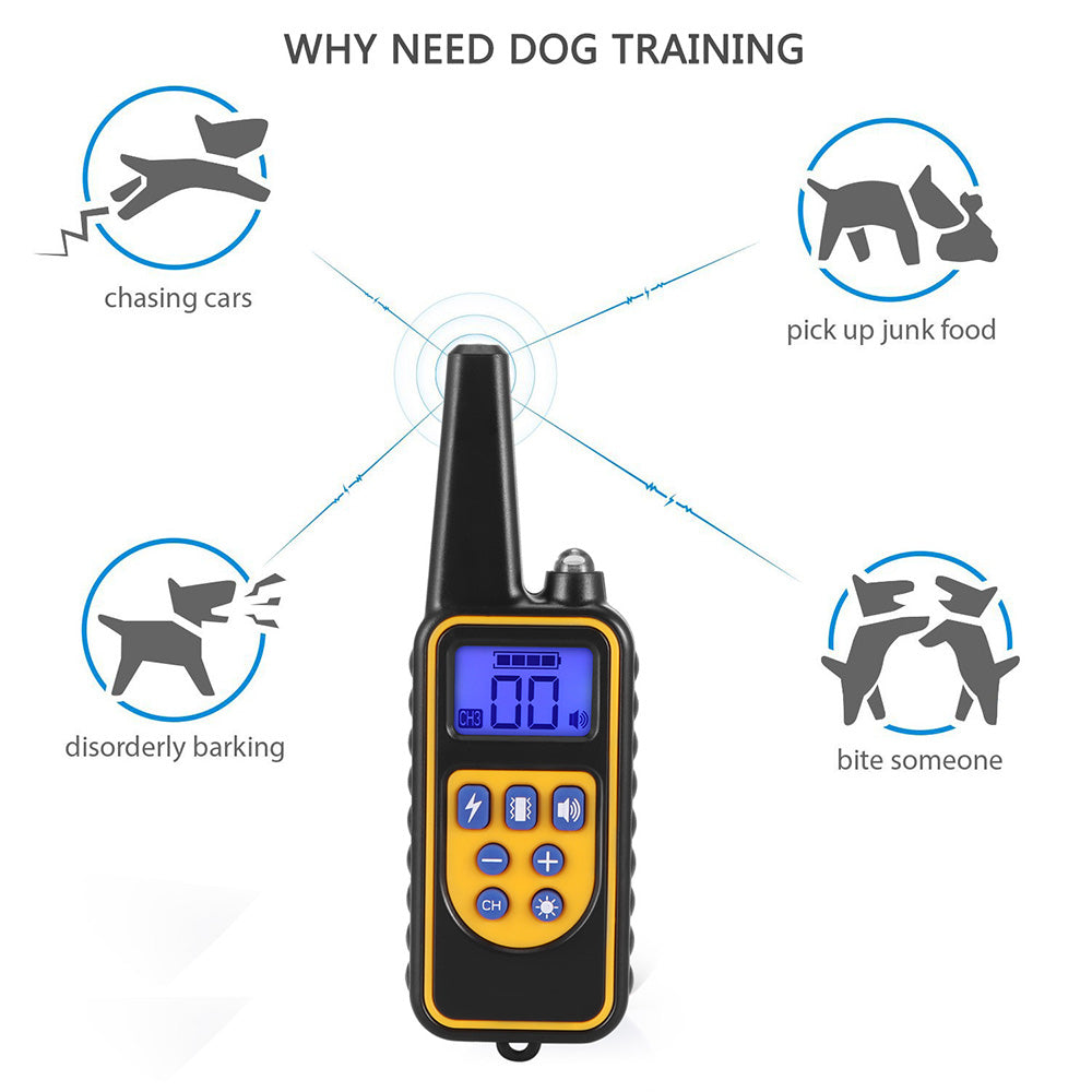 ABEDOE New Pet Dog Training Collar Waterproof IP68 Rechargeable Electric Dog Training Collar With Remote Controller Electric