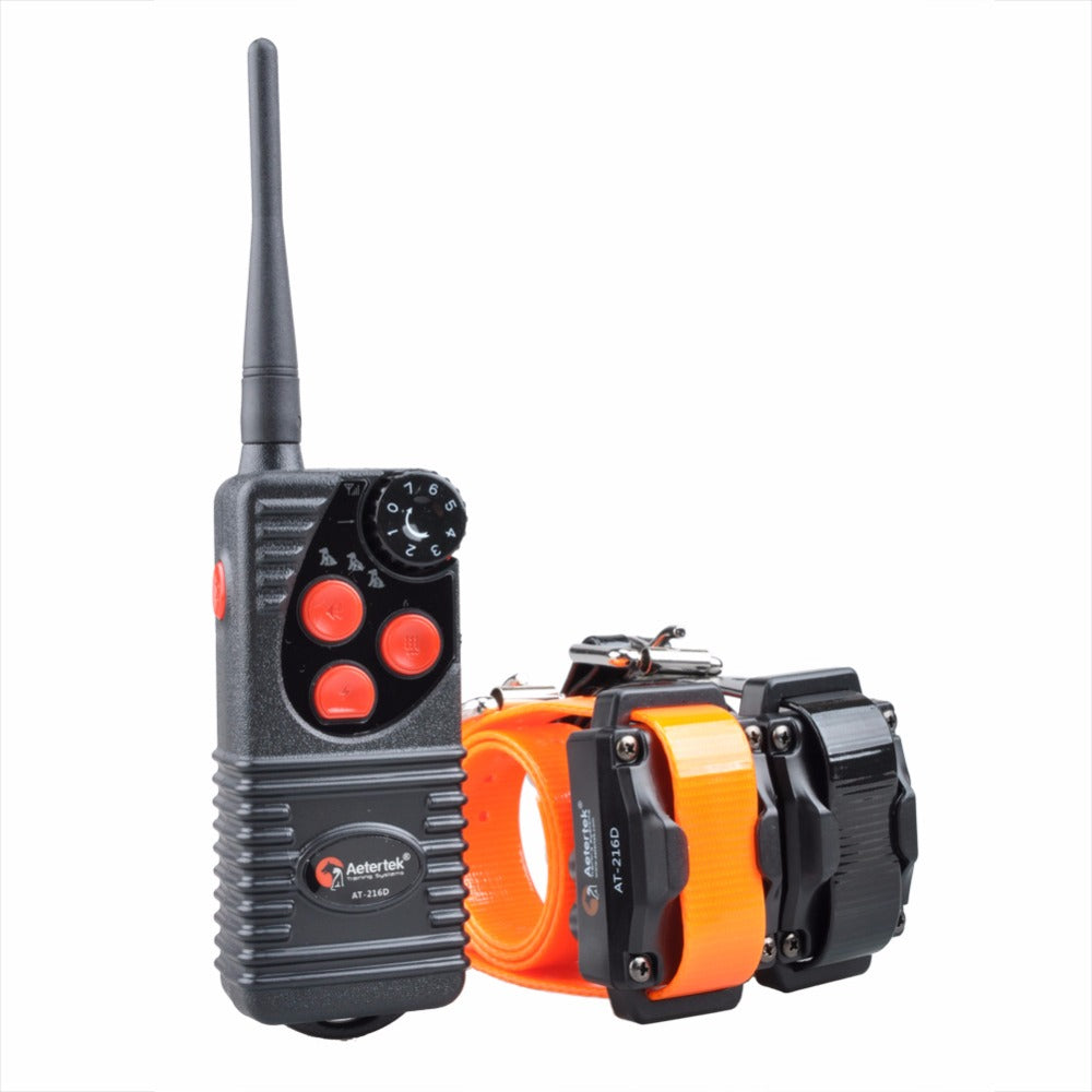 Aetertek 216D 2 Dogs Pets Shock Collar 600 Yards Remote Dog Training E-collar with Beep/Vibration/Shock Rechargeable Submersible