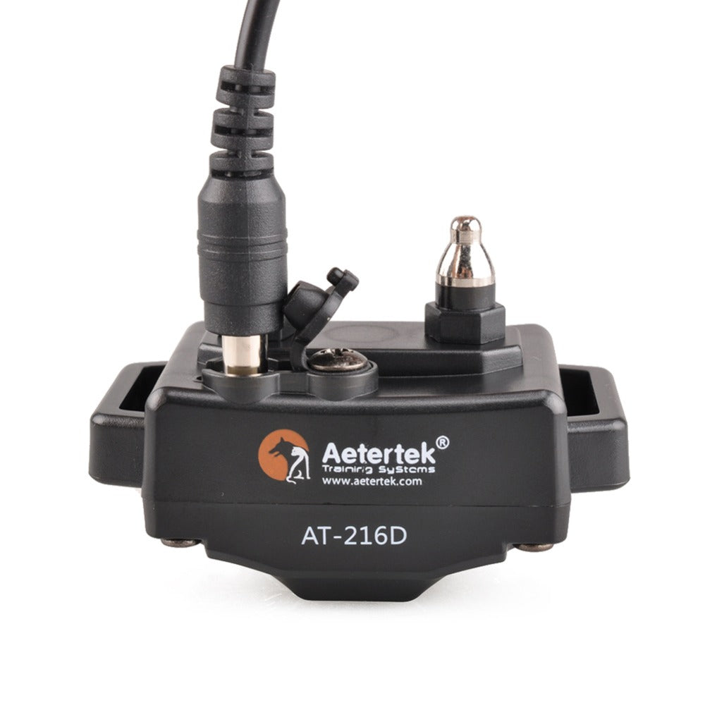 Aetertek At-216D Add-on Receiver Submersible (100& Fully Waterproof) Dog Training Collar Shock&Beep&Vibrate Updated Receiver Replacement