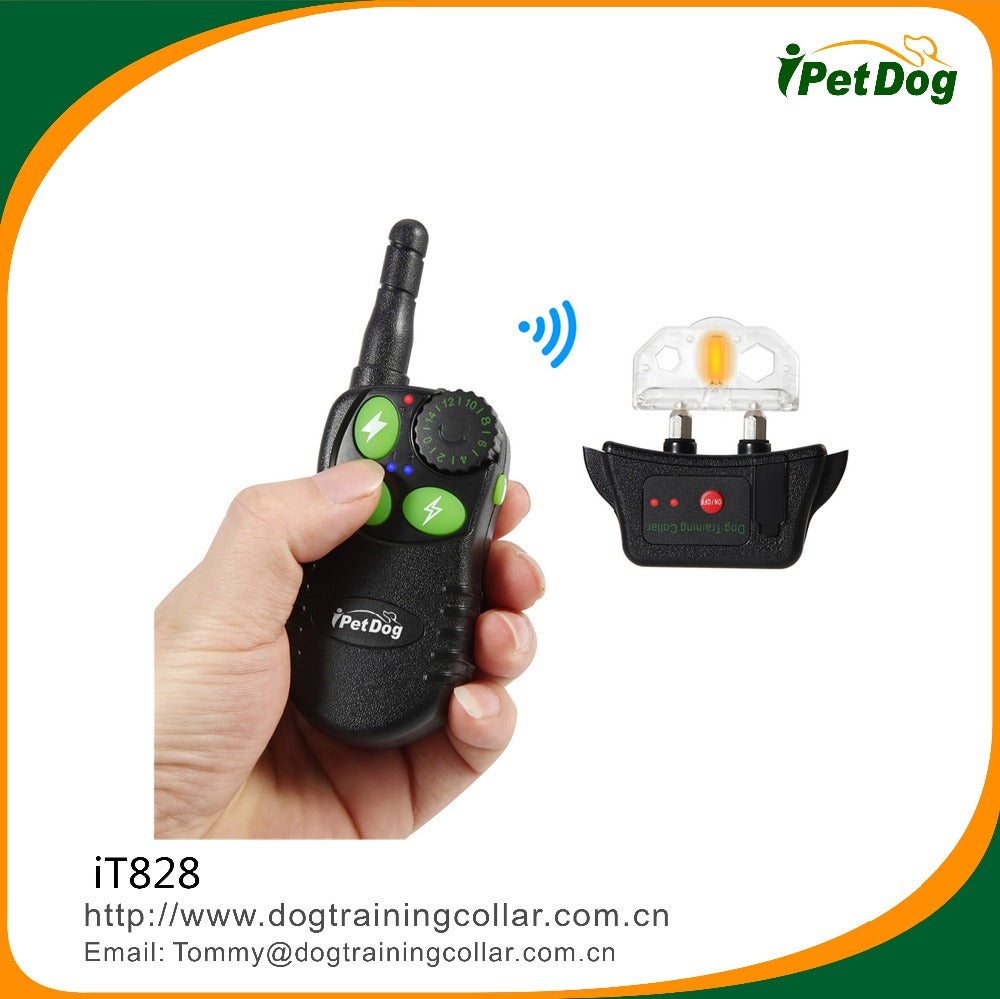 Amazon hot selling useful electric remote meter stop dog control Training shock collar with 2 recievers