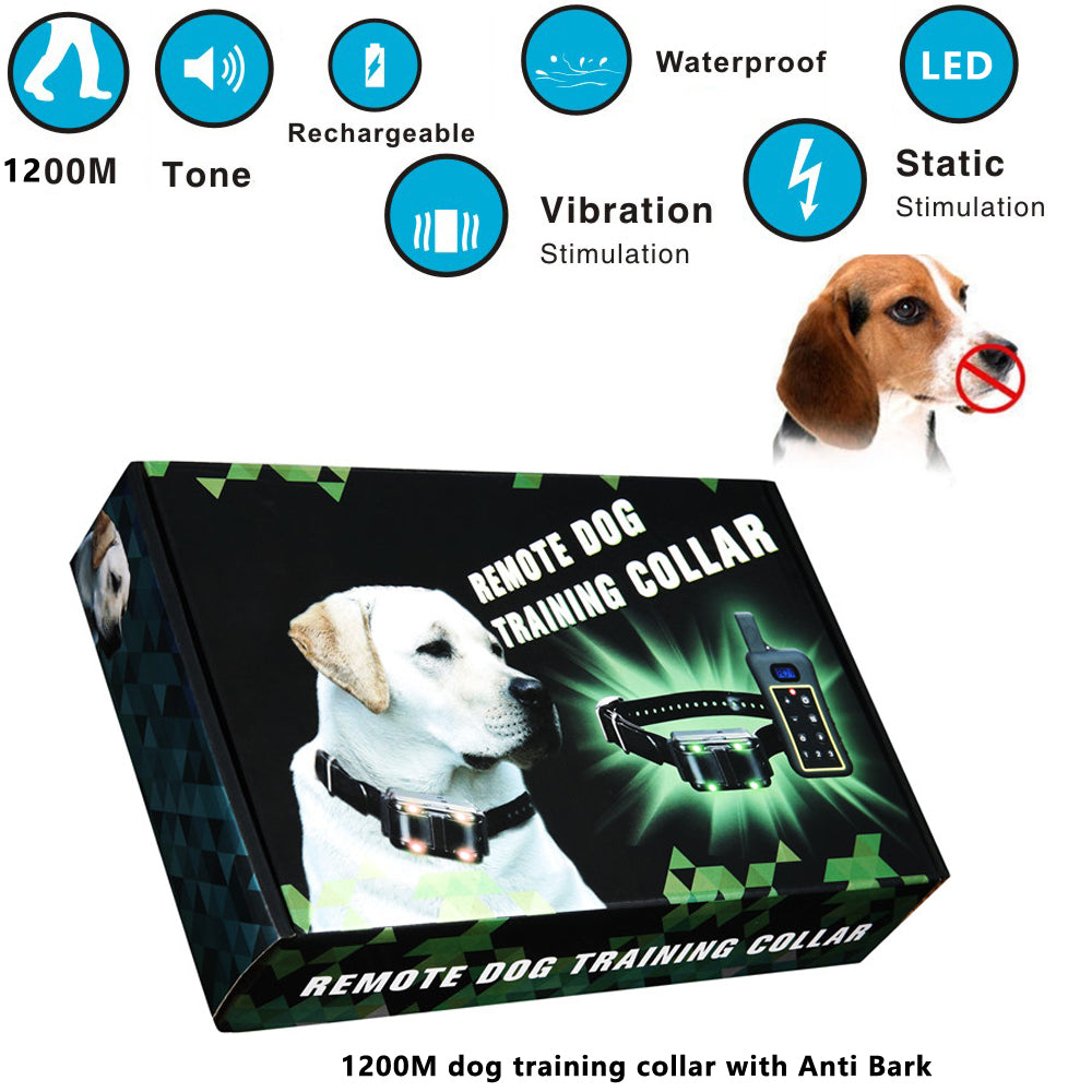 Anti Bark 1200m remote dog training collar