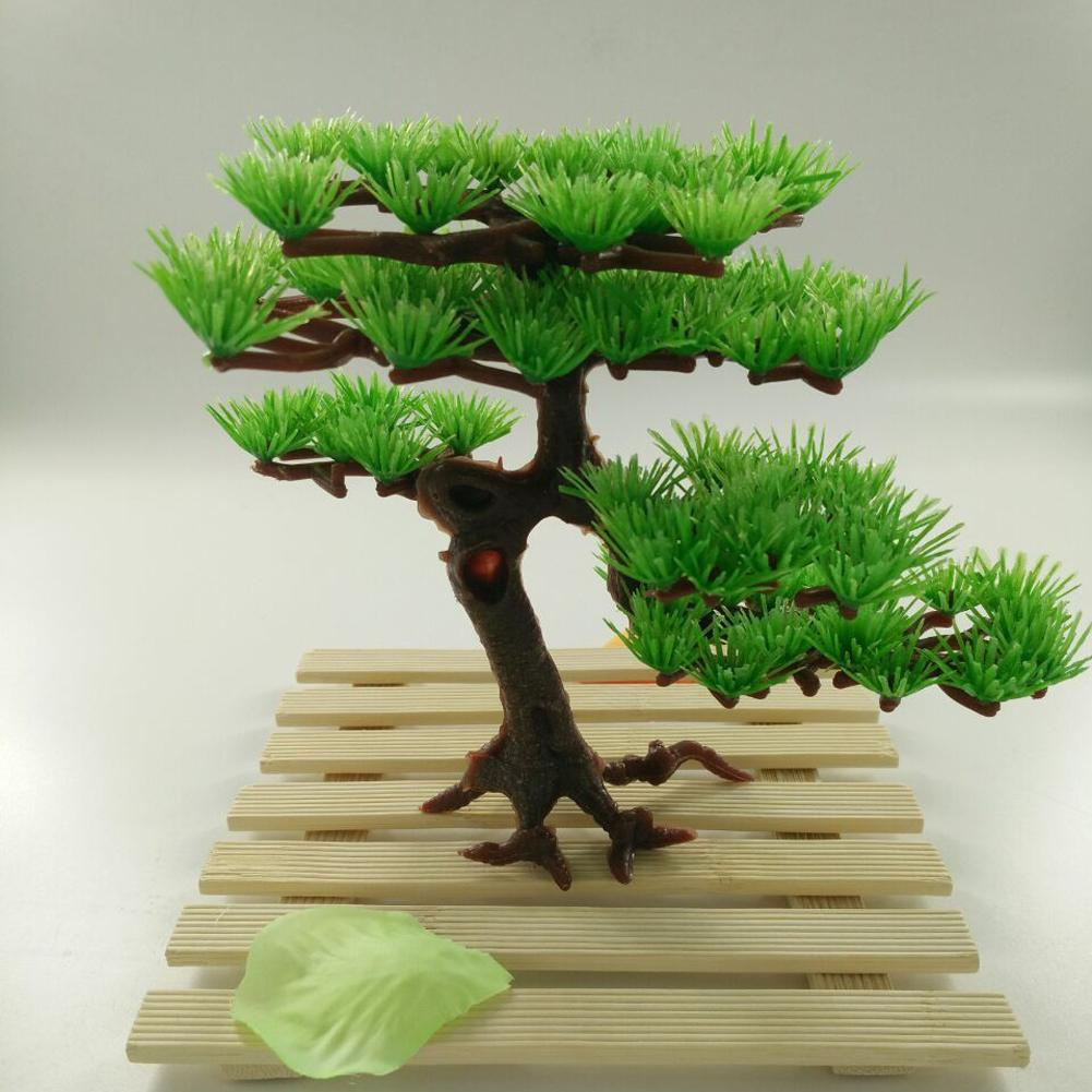 Aquarium decoration plastic artificial water plant pine for Aquatic decoration