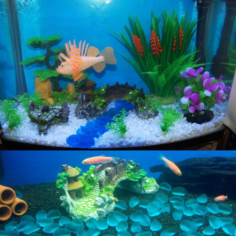 Aquarium resin bridge ornament rockery fake rock bridges for Aquarium bridge decoration
