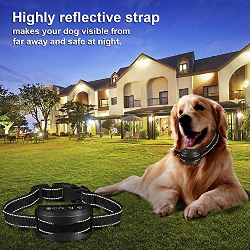 Bark Collar Rechargeable Humane Dog Training Collar with Beep Vibration and No Harm Shock no bark Collar for Small Medium Large